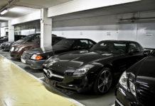Aparcamiento de coches para ver el Gran Premio de Fórmula 1 de Mónaco