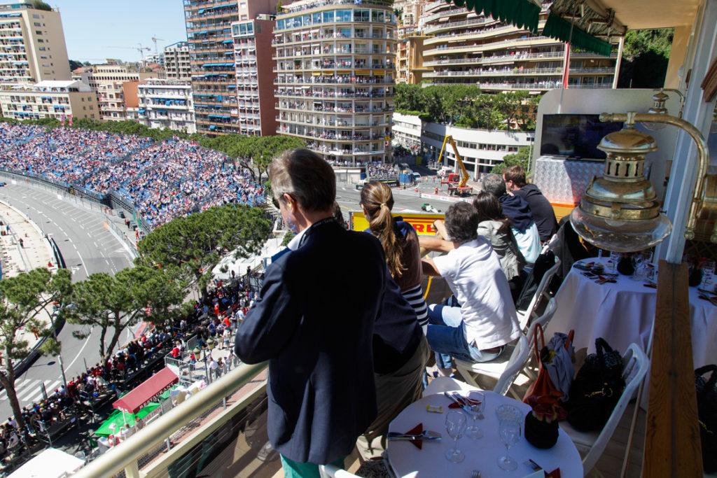 Terraza VIP para el Gran premio de Fórmula 1 de Mónaco